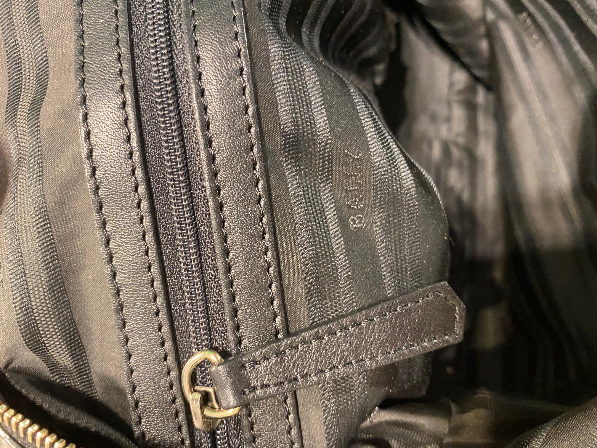 Bally Tasche Leder schwarz NP 600,- 2