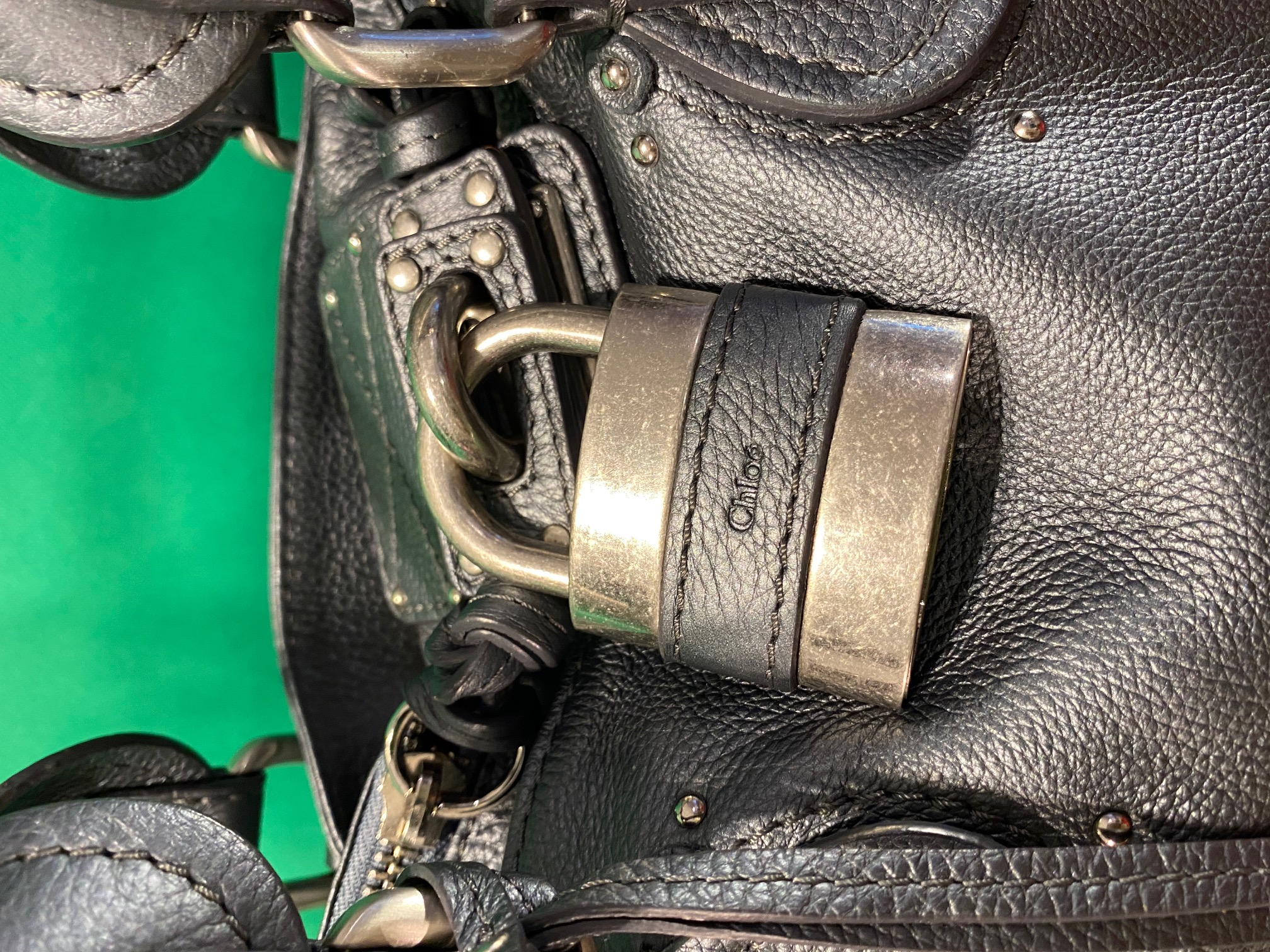 Tasche Leder metallic grau Chloe NP 1200,- 1