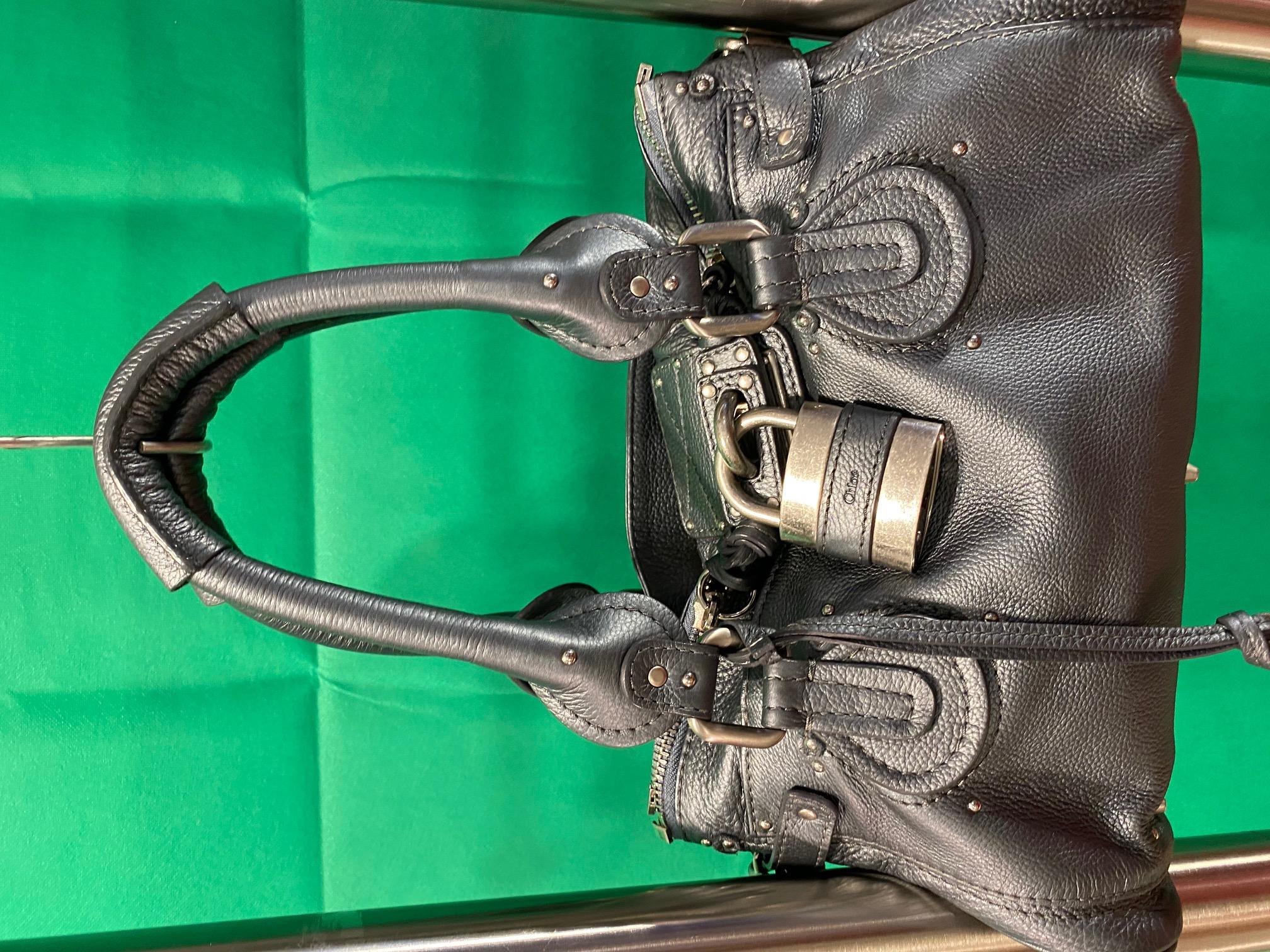 Tasche Leder metallic grau Chloe NP 1200,-