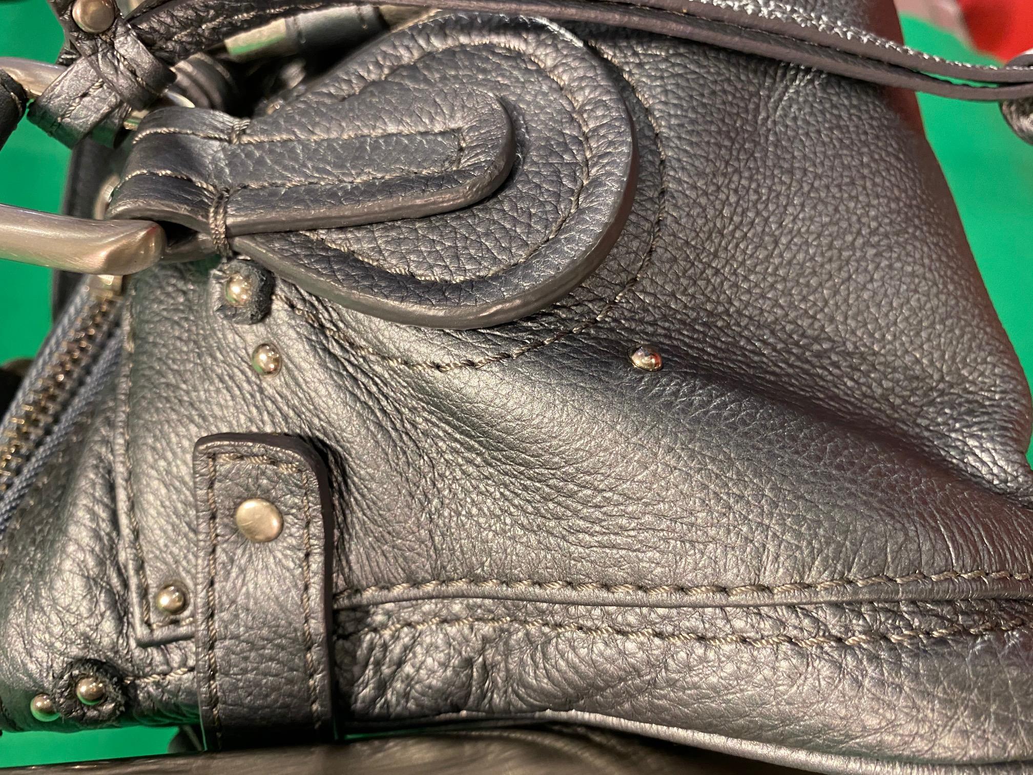 Tasche Leder metallic grau Chloe NP 1200,- 3