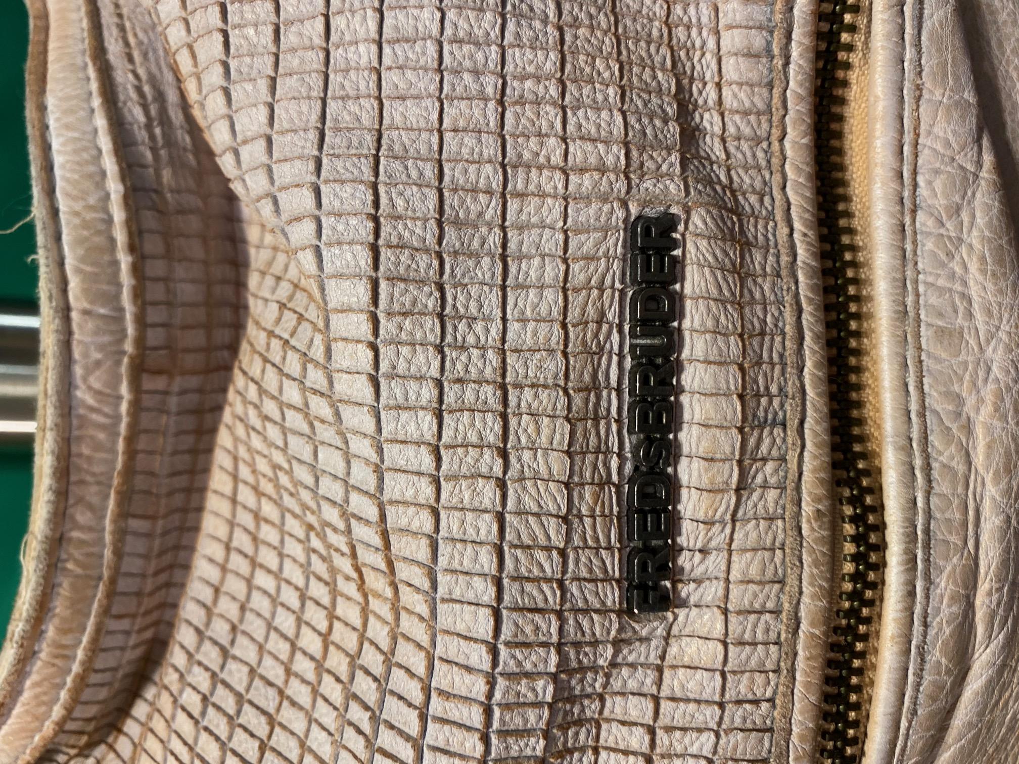 Umhängetasche Leder vintage weiß FredsBruder 1