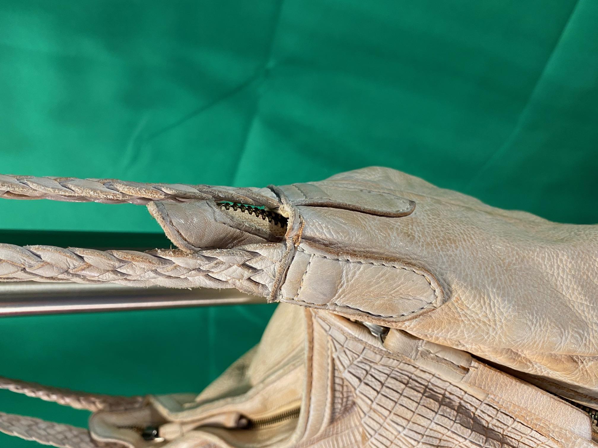 Umhängetasche Leder vintage weiß FredsBruder 2