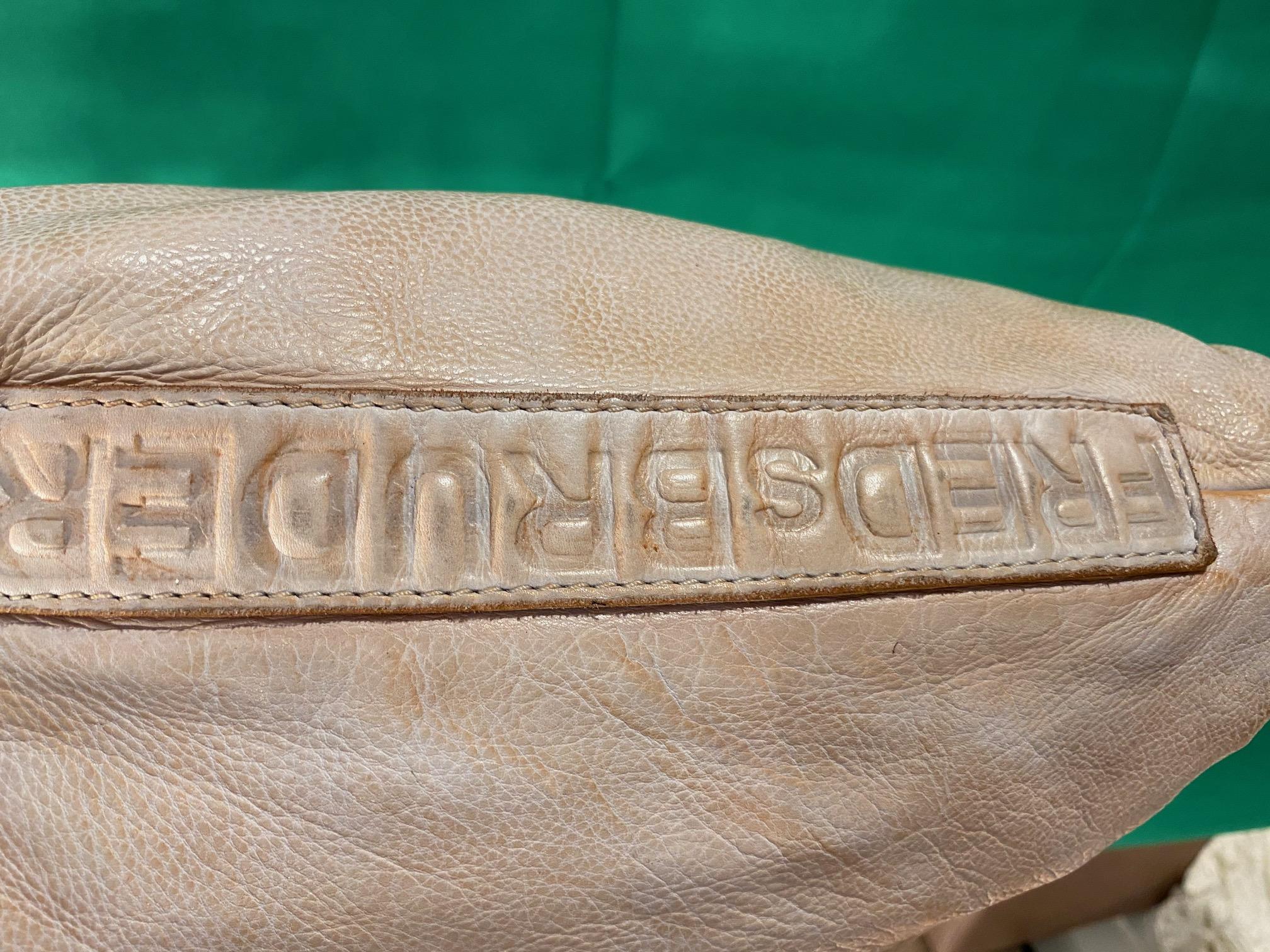 Umhängetasche Leder vintage weiß FredsBruder 3